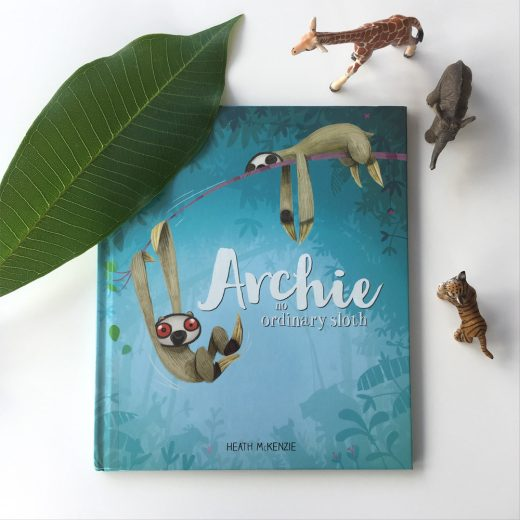 Archie no ordinary sloth book cover